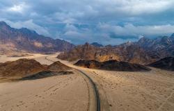 """بالصور.. شاهد جمال الطبيعة في طريق جبل """"رال"""" التاريخي بمحافظة الوجه"""