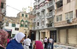 إخلاء 4 عقارات بمحيط عقار الإسكندرية المائل .. والمحافظ: صدر له 18 قرار إزالة
