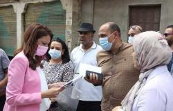 نائب محافظ الجيزة تتفقد المرحلة الأخيرة للمساكن البديلة لعشش السودان (صور)