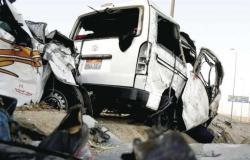 مصرع وإصابة 26 شخصًا في حادث سير على الطريق الساحلي بمطروح