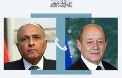 شكري يبحث مع وزير الخارجية الفرنسي قضية سد النهضة والوضع في تونس ولبنان