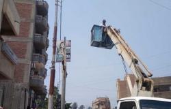 الوحدة المحلية ببلا تطلق حملات نظافة وتركيب كشافات الإنارة بشوارع المدينة