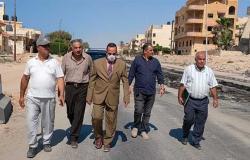 محافظ شمال سيناء يتفقد سير العمل في تنفيذ محور الفاتح بالعريش
