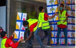 توزيع 37 طنًا مواد غذائية.. صندوق تحيا مصر يطلق قافلة حماية اجتماعية في الواحات البحرية