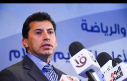 وزير الرياضة يشكر المعلق الجزائري : أتمنى أسمع تعليقك فى نهائى اليد بالأولمبياد .. فيديو