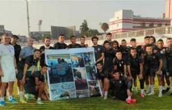 لاعبو الزمالك والجهاز الفني يستقبلون أسرة محمد الكردي
