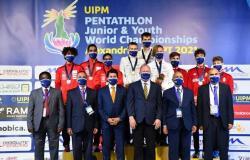 وزير الرياضة ومحافظ الإسكندرية يشهدان منافسات بطولة العالم للخماسي الحديث