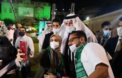 """السفارة السعودية بالقاهرة تحتفل باليوم الوطني 91 بمشاركة المواطنين.. و""""سبق"""" ترصد"""