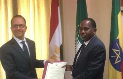 سفير مصر الجديد بأديس أبابا يقدم صورة من أوراق اعتمادة للخارجية الإثيوبية