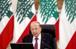الرئيس اللبناني: لن نتراجع عن حقوقنا النفطية