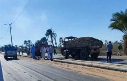 إصابة 10 أشخاص في 3 حوادث طرق متفرقة في المنيا