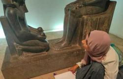 متحف الأقصر للفن المصري القديم ينظم ورشة فن الخط العربي