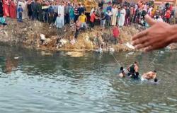 «كانا ينقذان طفلين».. وفاة شخصين إثر غرق سيارة ملاكي بمصرف في الدقهلية