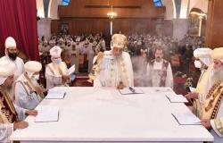 البابا تواضروس يدشن كنيسة العذراء والأنبا أنطونيوس بمدينة بدر (صور)