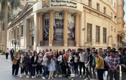 طلاب «تجارة قناة السويس» يزورون البورصة المصرية بالقاهرة