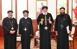 البابا تواضروس يستقبل مجمع كهنة شبين القناطر