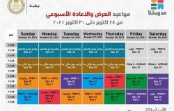 تعرف على جدول الأسبوع الأول للبرامج التعليمية على قناة مدرستنا