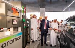 """""""أرامكو"""" و""""توتال إنيرجيز"""" يدشنان أولى محطات الشبكة المشتركة لبيع الوقود بالتجزئة"""