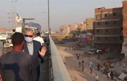 تفاصيل جولة محافظ القليوبية بحي غرب شبرا الخيمه والطريق الدائري ( صور)