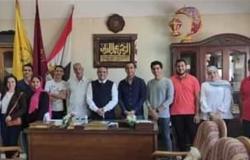 تكريم الطلاب المتميزين غنائيا بـ«تربية نوعية» جامعة المنيا