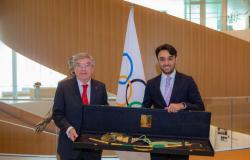 وزير الرياضة يجتمع برئيس اللجنة الأولمبية الدولية