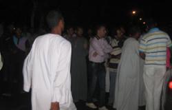 قطع طريق قرية شباس الملح بدسوق بسبب مشاجرة بين عائلتين