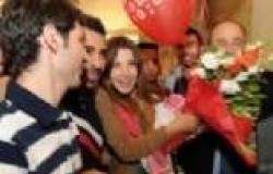 "بالصور| عشاق نانسي عجرم يستقبلونها بالأردن قبل مهرجان ""جرش"""