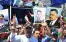 """مسيرات بصور """"عبدالناصر"""" و""""السيسي"""" في قرى كفرالشيخ تأييدا للجيش ضد الإرهاب"""