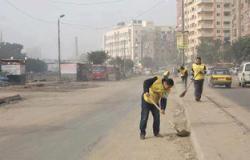 """""""مصريون ضد الفساد"""" تواصل حملتها لتجميل وتنظيف الإسكندرية"""