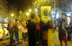 """الإخوان ينظمون سلسلة بشرية بكفر الشيخ ويرفعون علامة """"رابعة"""""""