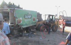 بالصور.. تصادم ثلاث سيارات بمدخل مدينة التل الكبير بالإسماعيلية