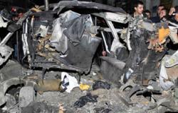 انفجار سيارتين يقودهما انتحاريان عند مدخل ساحة الأمويين فى دمشق