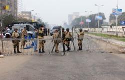 مرور القاهرة: انتظام الحركة بميدان رابعة فى ظل تواجد رجال الأمن