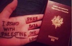 بالصور.. نشطاء يدشنون حملة «باسبورات تدعم غزة»