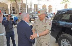 قائد المنطقة الشمالية العسكرية يزور مديرية أمن كفر الشيخ