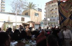 بالصور.. مديرية أمن الدقهلية تقيم سوقا لبيع الخضراوات بالجملة