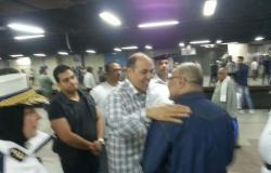 بالصور.. مدير شرطة النقل يفاجئ محطتى مترو العتبة والشهداء لتفقد القوات
