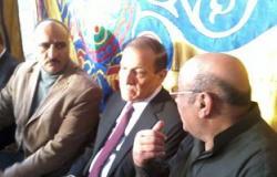سامى عنان ووزير الداخلية وأحمد الزند يشاركون فى عزاء شقيقة الجنزورى