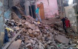 انهيار منزل من طابقين دون وقوع خسائر بالأرواح فى طهطا بسوهاج