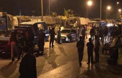 """فتح طريق """"المنصورة – السنبلاوين"""" بعد قطعه إثر مصرع 6 من أسرة واحدة"""
