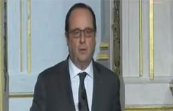 هولاند يعقد مجلس دفاع مصغرا حول الوضع فى سوريا والعراق