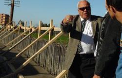 """بالصور .. رئيس مدينة قطور يتفقد أعمال إنشاء كوبرى """"عزبة خليل"""""""