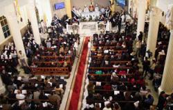 الأقباط الكاثوليك يحتفلون بعيد الميلاد المجيد فى الإسكندرية