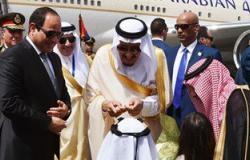 """بالفيديو..المصريون لـ""""الملك سلمان"""":أهلا بك فى بلدك يا أجدع شخصية فى العالم"""