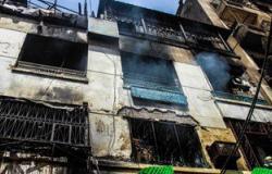 """""""المهندسين"""" توصى بإزالة عقار بـ""""الرويعى"""" لخطورته بعد تأثره بحريق العتبة"""