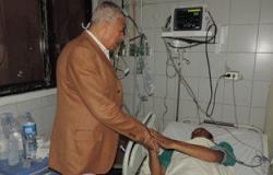 مدير أمن الغربية يزور ضباط وأفراد الشرطة بالمستشفيات