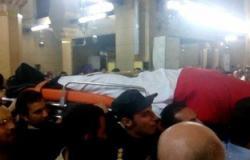 بالصور.. جنازة عسكرية لشهيد الإرهاب بشمال سيناء فى مسقط رأسه بالمحلة