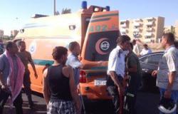 بالصور.. إصابة شرطى مرور أثناء تأمين سيارة محافظ جنوب سيناء