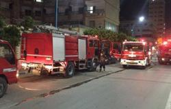 الدفع ب 16 سيارة لإخماد حريق اندلع  فى استديو بمدينة السينما فى الهرم