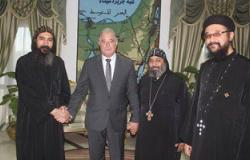وفد من كاتدرائية السمائيين يزور محافظ جنوب سيناء لتهنئته بعيد الفطر